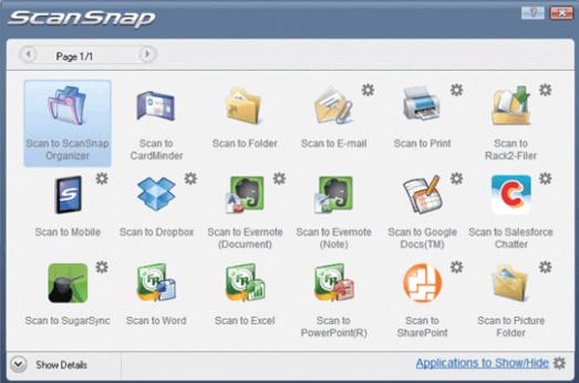 ScanSnap Quick Menu pour PC: