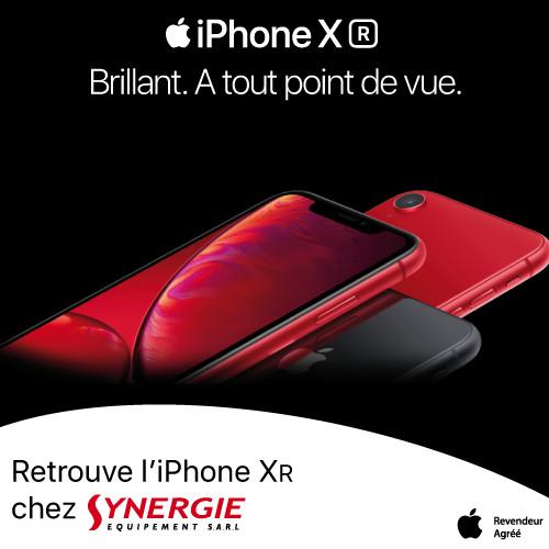 L'Iphone XR maintenant disponible à Synergie !